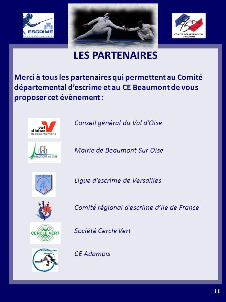 LES PARTENAIRES Merci à tous les partenaires qui permettent au Comité départemental descrime et au CE Beaumont de vous proposer cet évènement : Consei