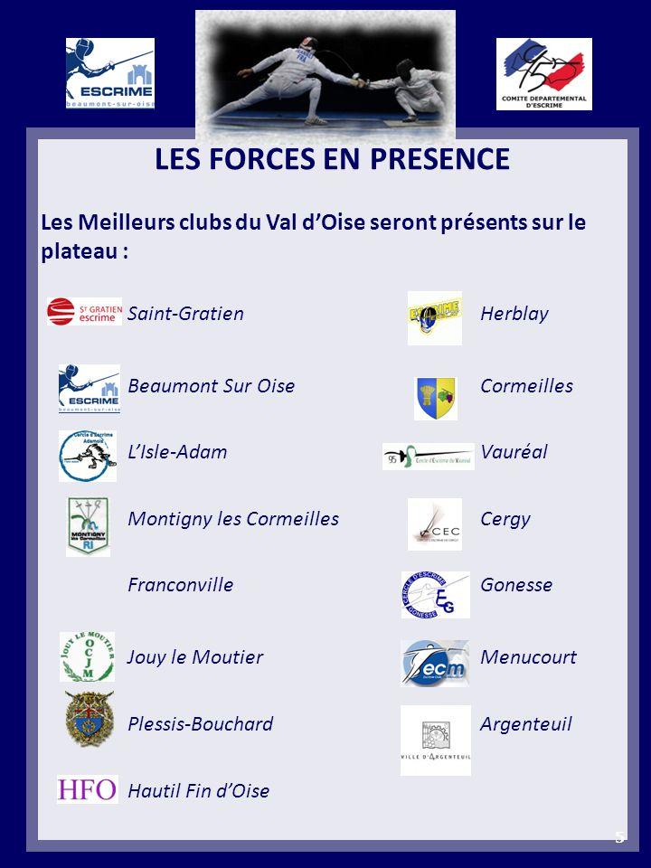 LES FORCES EN PRESENCE Les Meilleurs clubs du Val dOise seront présents sur le plateau : Saint-Gratien Herblay Beaumont Sur Oise Cormeilles LIsle-Adam