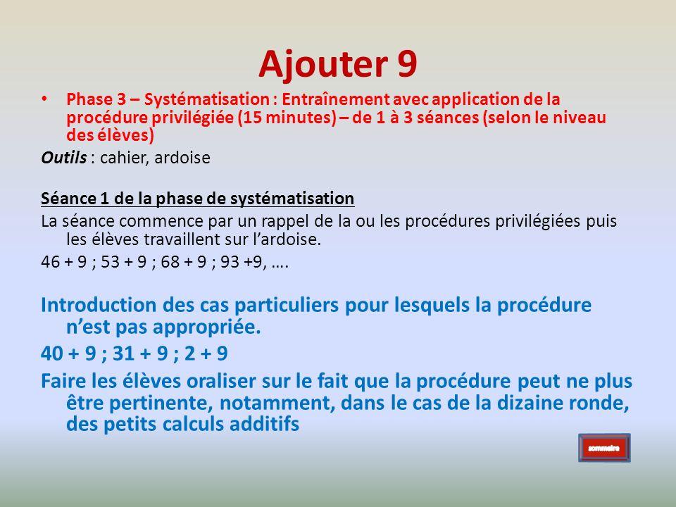 Ajouter 9 Phase 3 – Systématisation : Entraînement avec application de la procédure privilégiée (15 minutes) – de 1 à 3 séances (selon le niveau des é