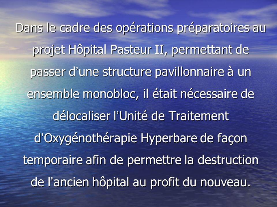 Dans le cadre des opérations préparatoires au projet Hôpital Pasteur II, permettant de passer d une structure pavillonnaire à un ensemble monobloc, il