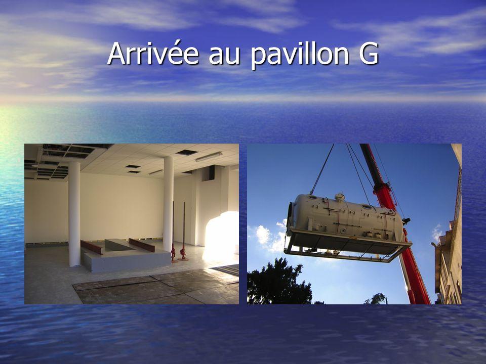 Arrivée au pavillon G