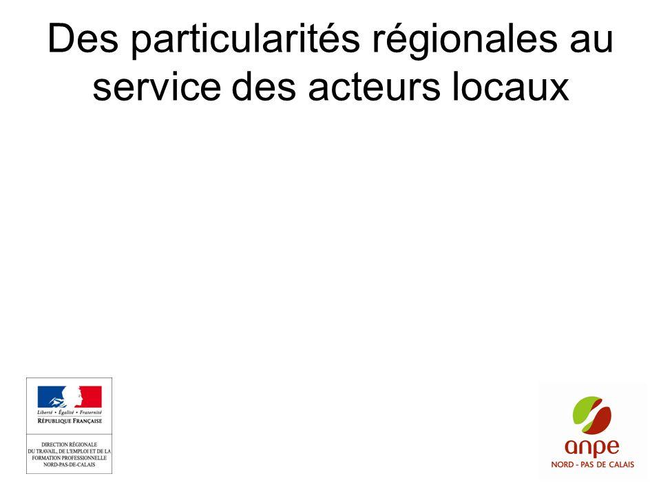 Des particularités régionales au service des acteurs locaux