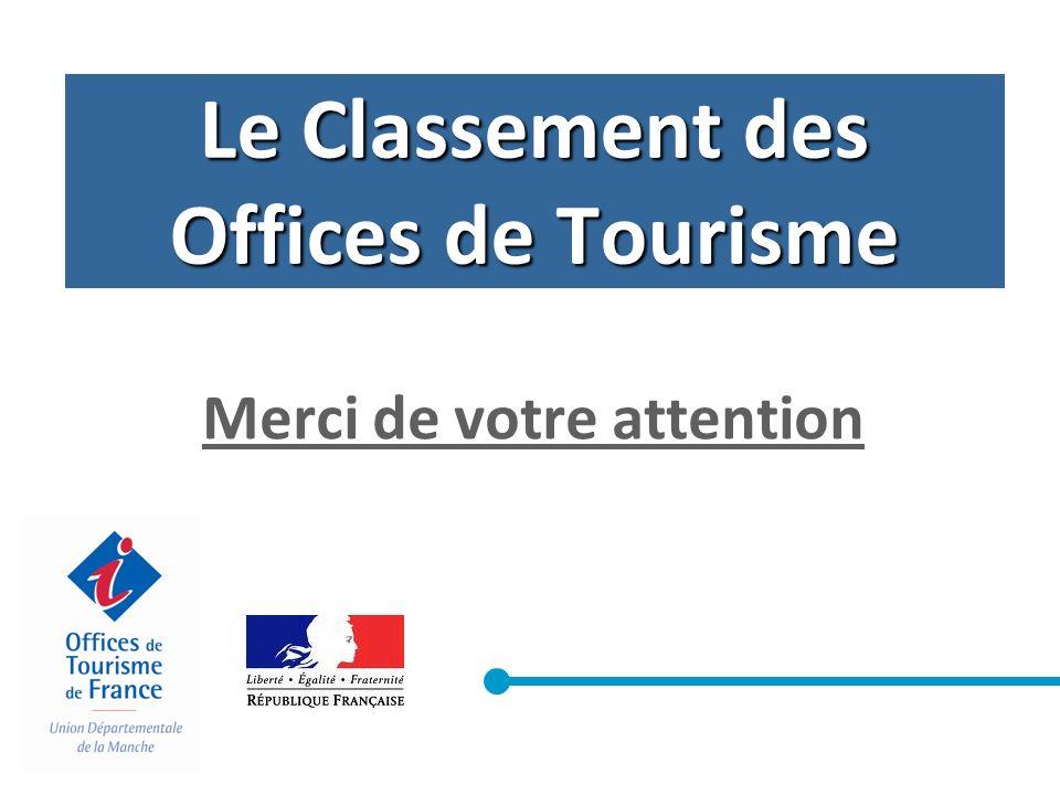 Le Classement des Offices de Tourisme Merci de votre attention