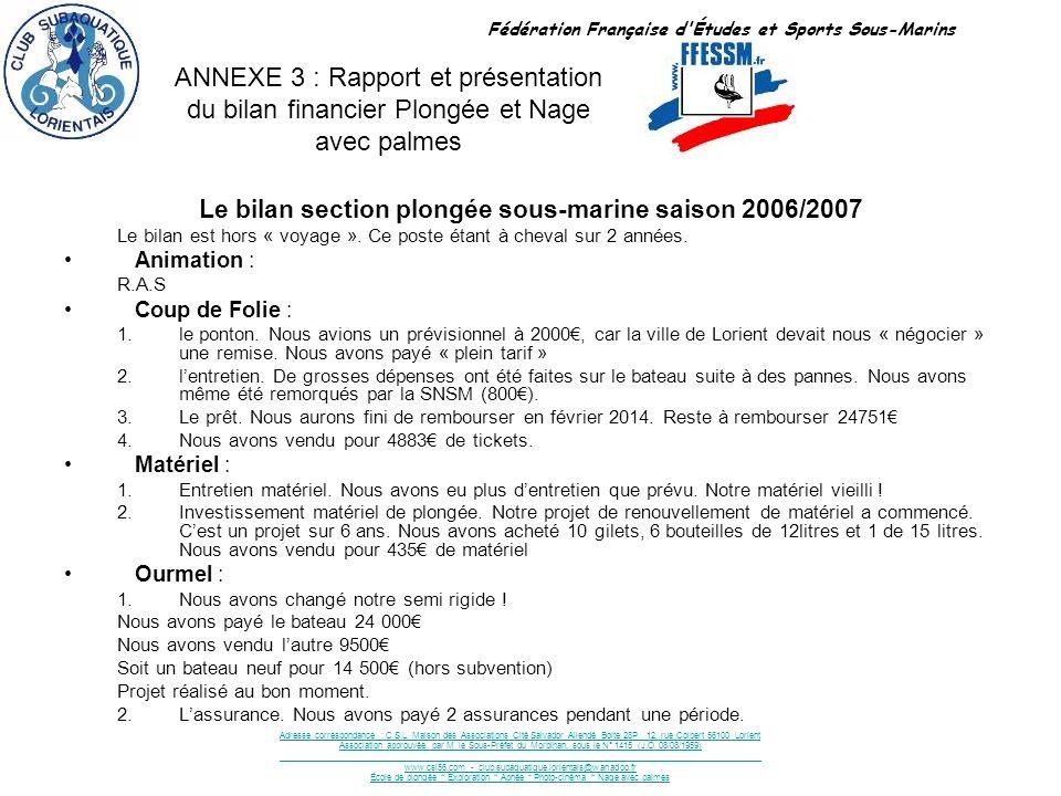 47 NAGE AVEC PALMES SAISON 2006-2007