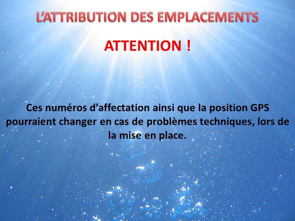Lattribution des emplacements est organisée suivant les articles 2 & 3 du règlement intérieur.