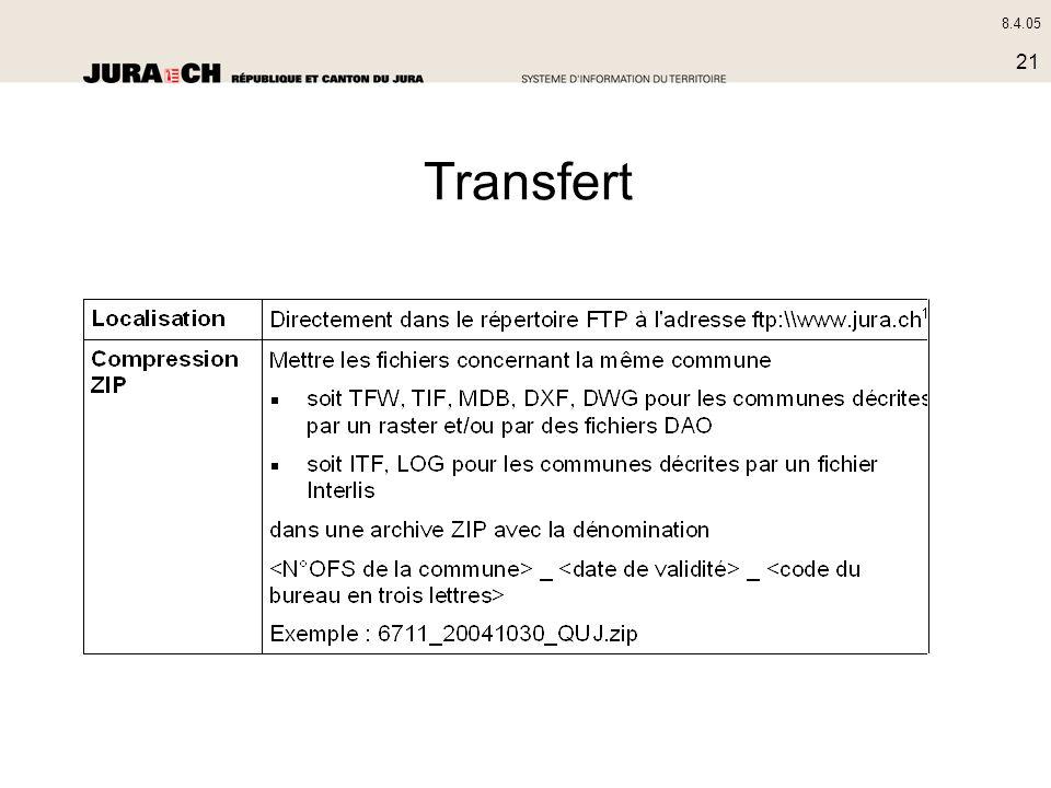 8.4.05 21 Transfert