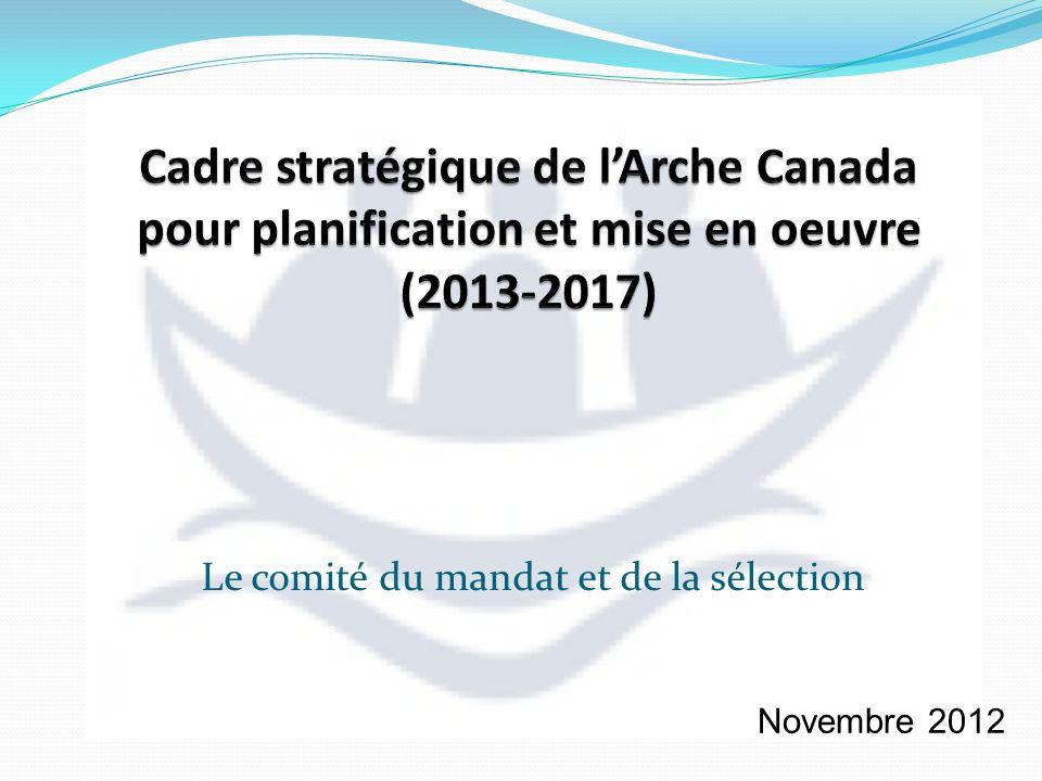 Le comité du mandat et de la sélection Novembre 2012