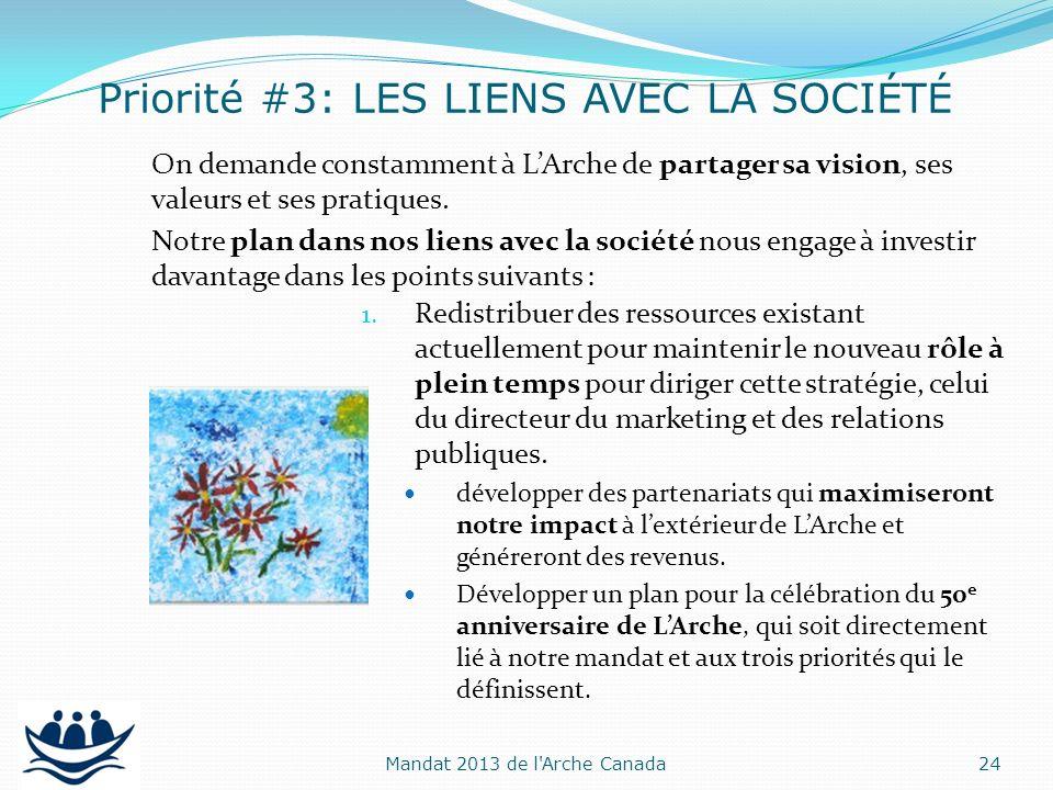 On demande constamment à LArche de partager sa vision, ses valeurs et ses pratiques. Notre plan dans nos liens avec la société nous engage à investir
