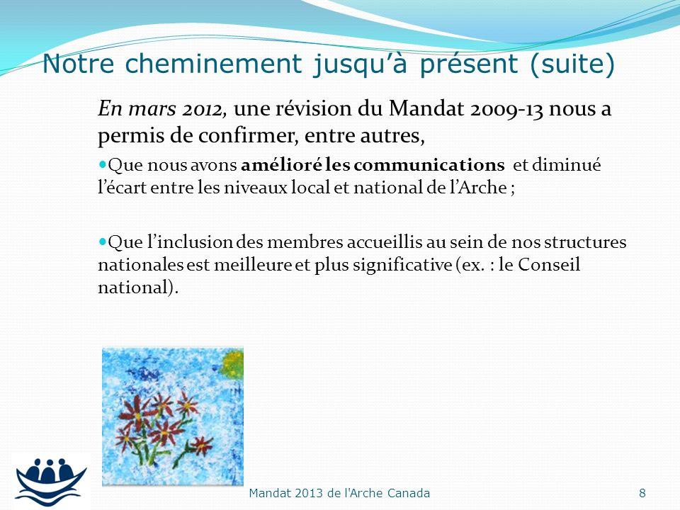 En mars 2012, une révision du Mandat 2009-13 nous a permis de confirmer, entre autres, Que nous avons amélioré les communications et diminué lécart en