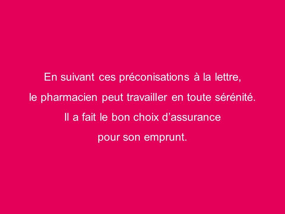 En suivant ces préconisations à la lettre, le pharmacien peut travailler en toute sérénité.