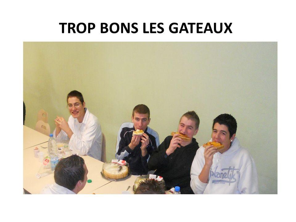 TROP BONS LES GATEAUX
