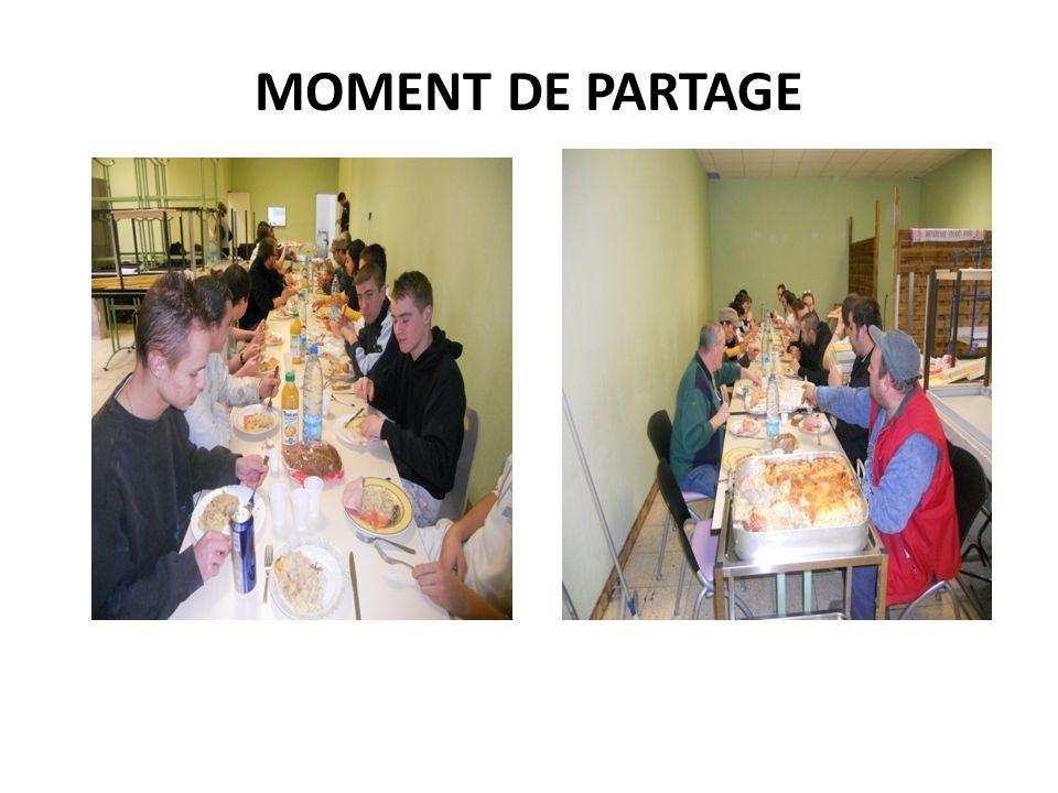 MOMENT DE PARTAGE