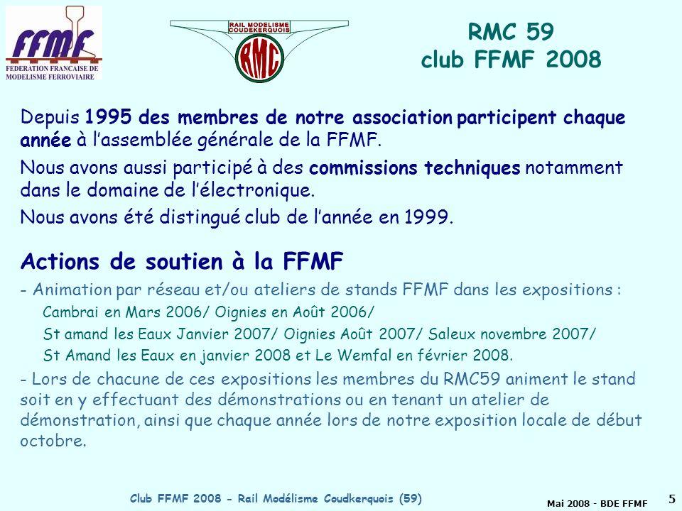 Mai 2008 - BDE FFMF Club FFMF 2008 - Rail Modélisme Coudkerquois (59)4 RMC59, Mondial 2008 : trains et vélos !