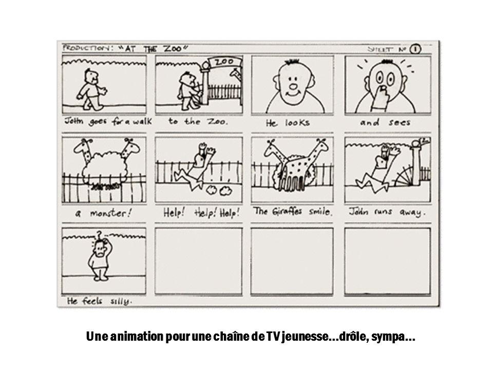Une animation pour une chaîne de TV jeunesse…drôle, sympa…