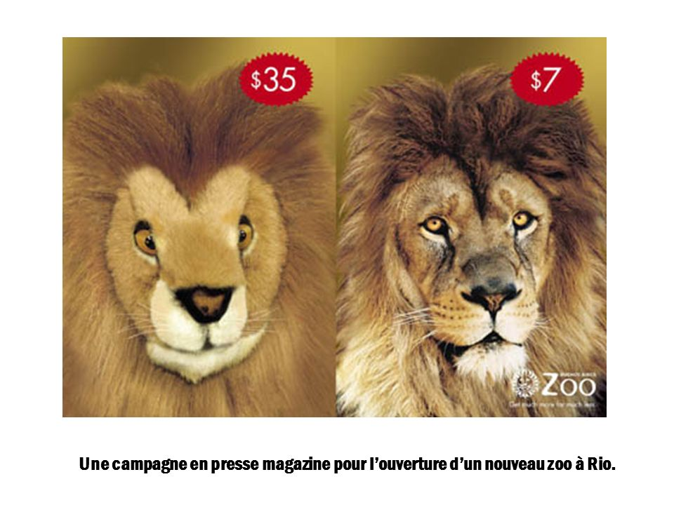 Une campagne en presse magazine pour louverture dun nouveau zoo à Rio.