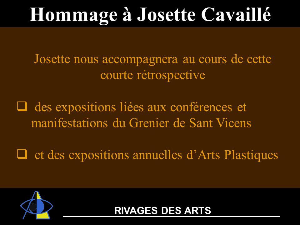 Josette nous accompagnera au cours de cette courte rétrospective des expositions liées aux conférences et manifestations du Grenier de Sant Vicens et