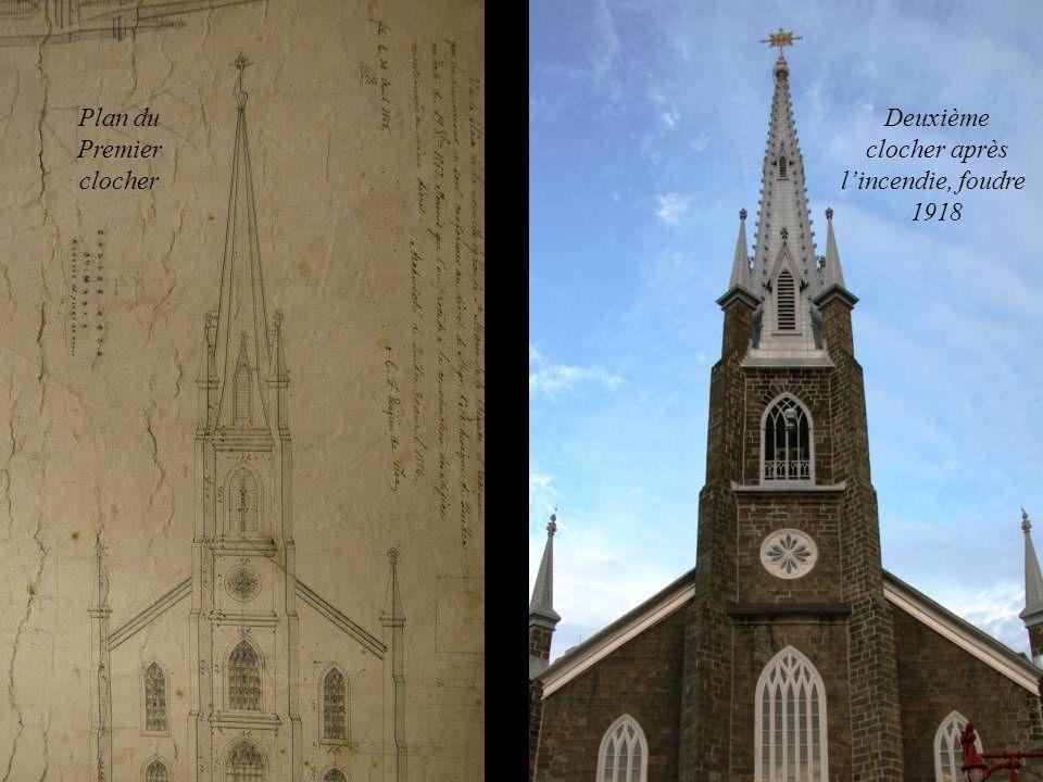 Plan du Premier clocher Deuxième clocher après lincendie, foudre 1918