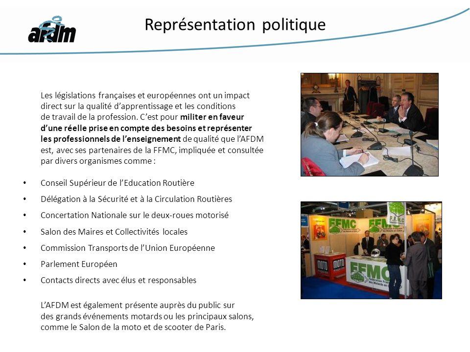 Les législations françaises et européennes ont un impact direct sur la qualité dapprentissage et les conditions de travail de la profession. Cest pour