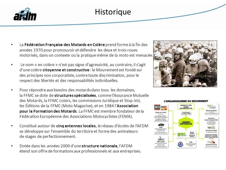 La Fédération Française des Motards en Colère prend forme à la fin des années 1970 pour promouvoir et défendre les deux et trois-roues motorisés, dans