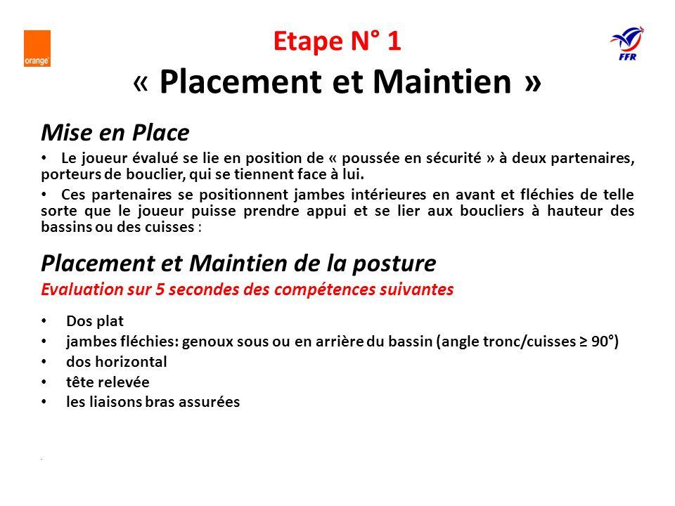 Etape N° 1: « Placement et Maintien »