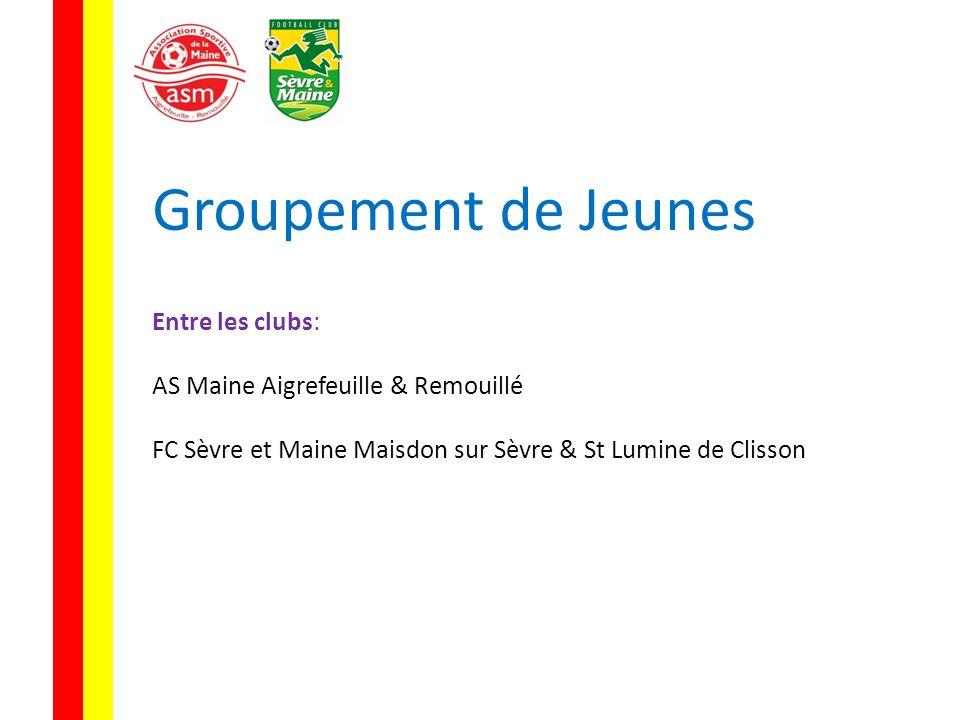 Groupement de Jeunes Entre les clubs: AS Maine Aigrefeuille & Remouillé FC Sèvre et Maine Maisdon sur Sèvre & St Lumine de Clisson