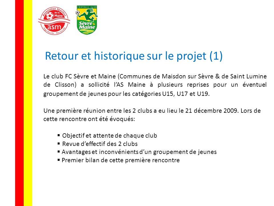 Retour et historique sur le projet (1) Le club FC Sèvre et Maine (Communes de Maisdon sur Sèvre & de Saint Lumine de Clisson) a sollicité lAS Maine à