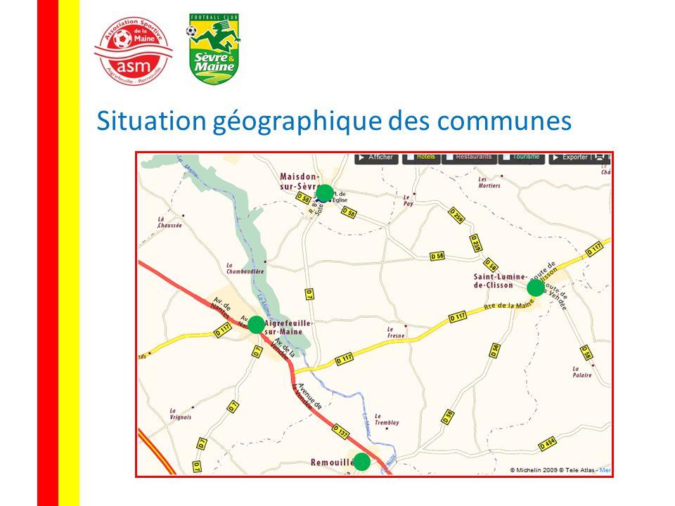 Situation géographique des communes