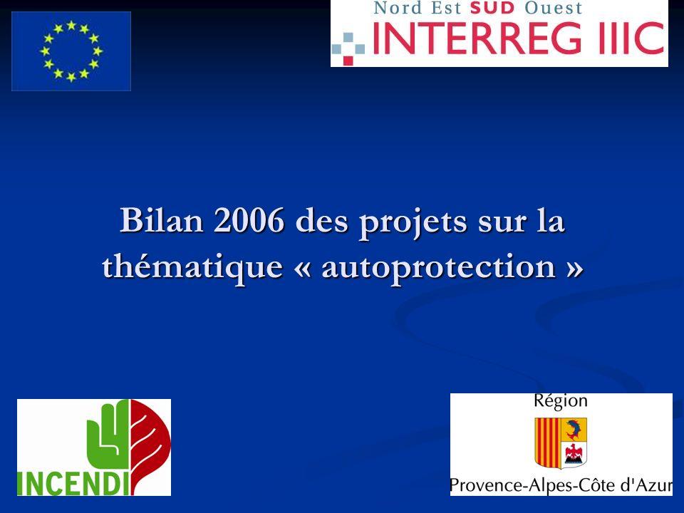 Bilan 2006 des projets sur la thématique « autoprotection »