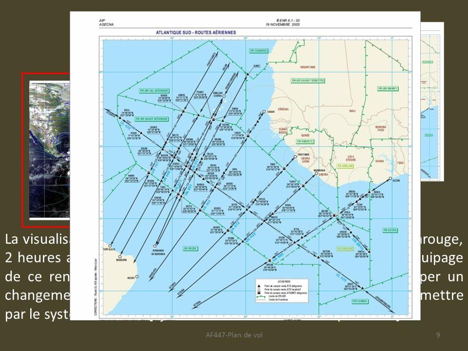 AF447-Plan de vol9 La visualisation de cette image satellite mêlant le visible et linfrarouge, 2 heures avant le passage à TASIL, aurait peut-être per