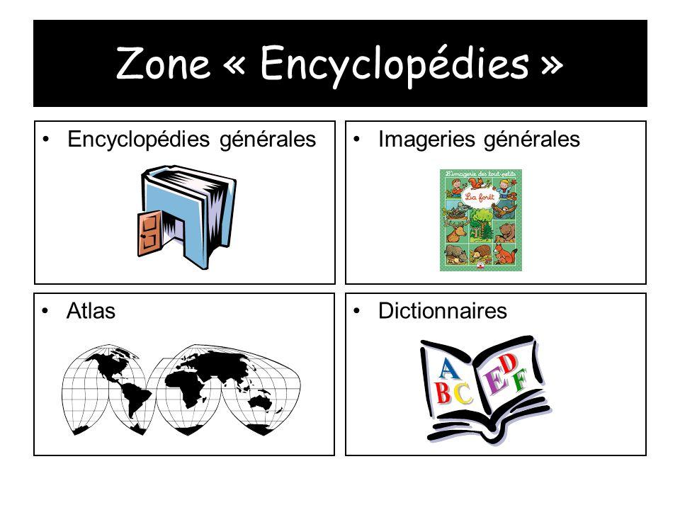 Zone « Encyclopédies » Encyclopédies généralesImageries générales AtlasDictionnaires