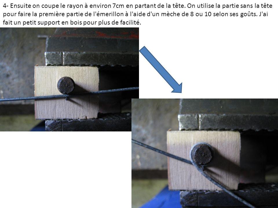 5- On glisse un tournevis assez fin pour laisser un espace lors de l enroulement des deux brins:
