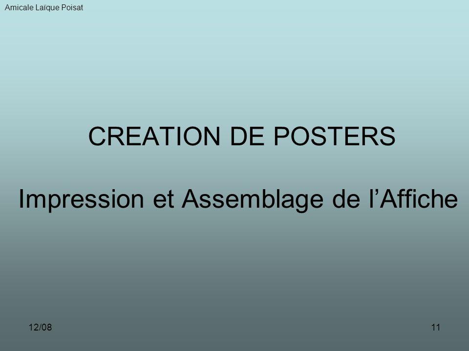 12/0811 CREATION DE POSTERS Impression et Assemblage de lAffiche Amicale Laïque Poisat