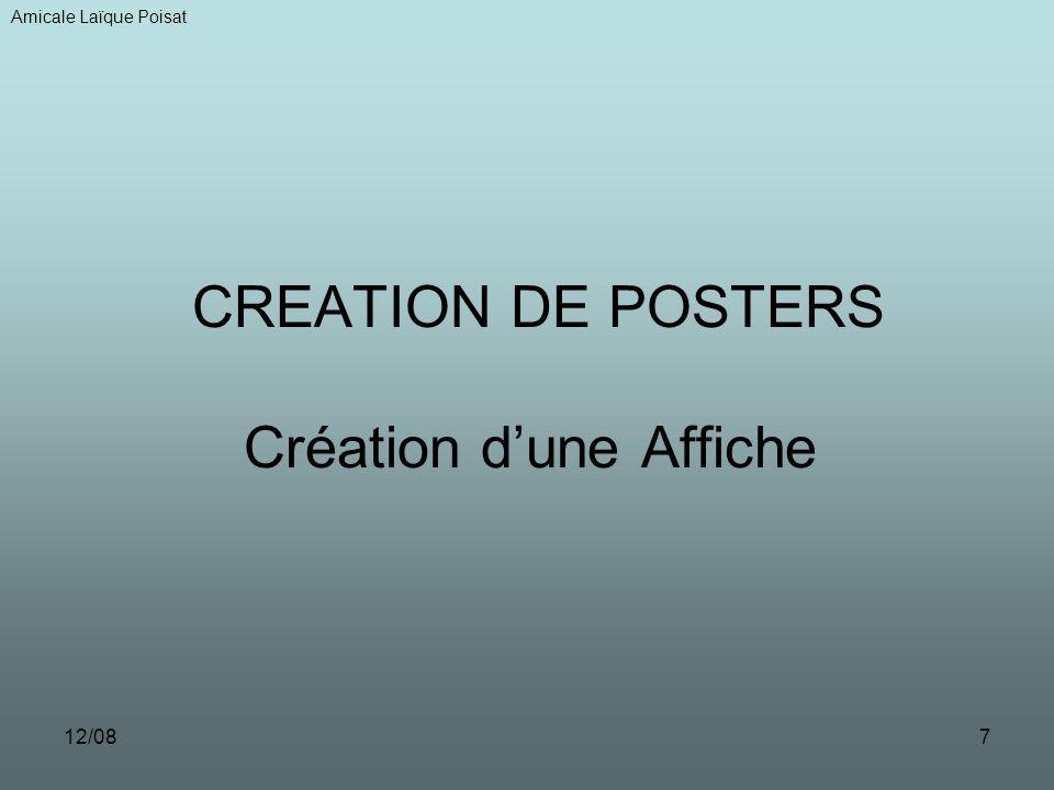 12/087 CREATION DE POSTERS Création dune Affiche Amicale Laïque Poisat