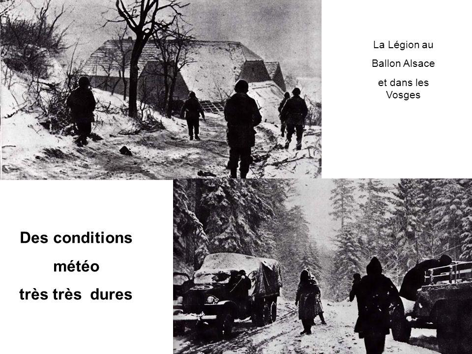 La Légion au Ballon Alsace et dans les Vosges Des conditions météo très très dures