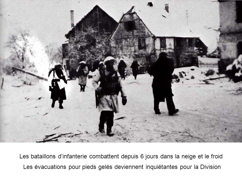Les bataillons dinfanterie combattent depuis 6 jours dans la neige et le froid Les évacuations pour pieds gelés deviennent inquiétantes pour la Divisi