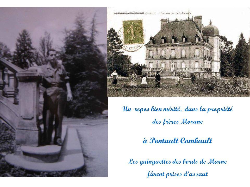 Un repos bien mérité, dans la propriété des frères Morane à Pontault Combault Les guinguettes des bords de Marne fûrent prises dassaut