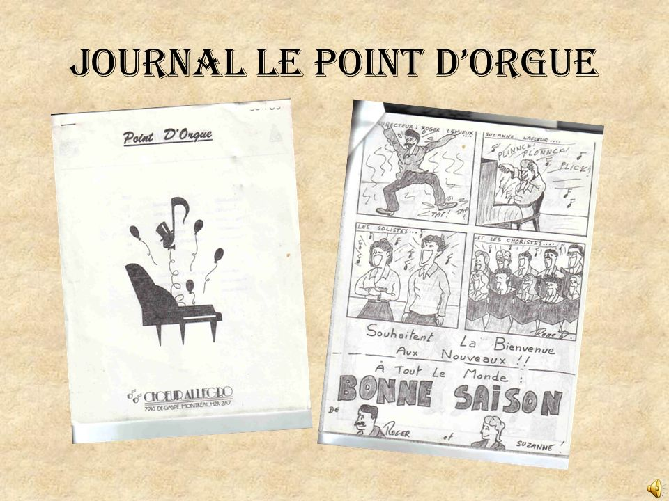 Journal le Point dOrgue
