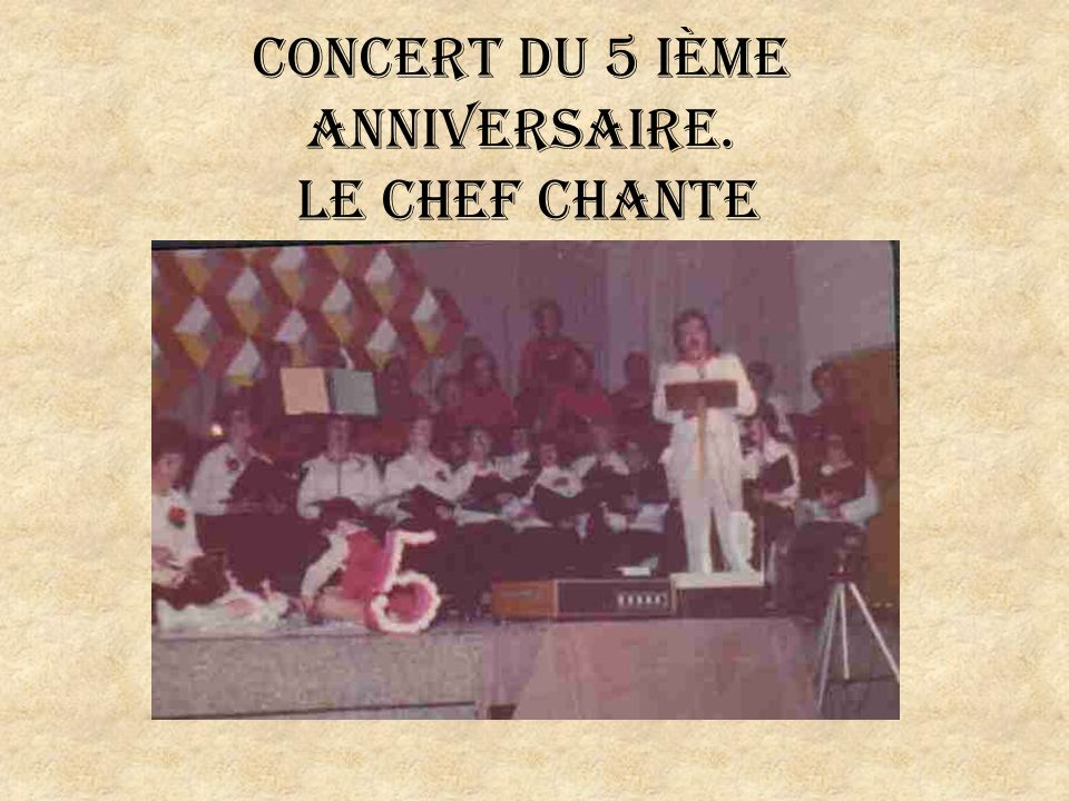 Concert Bénéfice en Beauce en 2001
