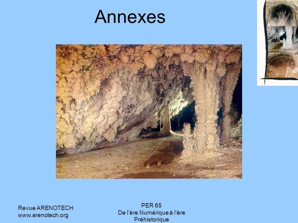 Revue ARENOTECH www.arenotech.org PER 65 De lère Numérique à lère Préhistorique Annexes