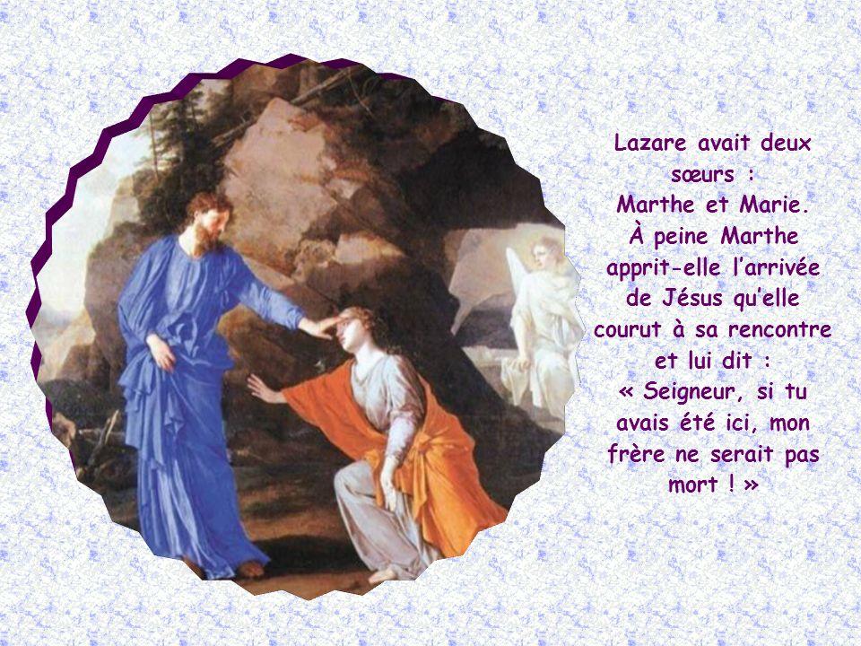 Jésus a prononcé ces paroles à loccasion de la mort de Lazare de Béthanie, quil ressuscita le quatrième jour.