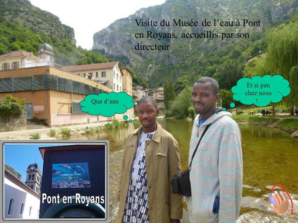 Visite du Musée de leau à Pont en Royans, accueillis par son directeur Que deau Et si peu chez nous !..