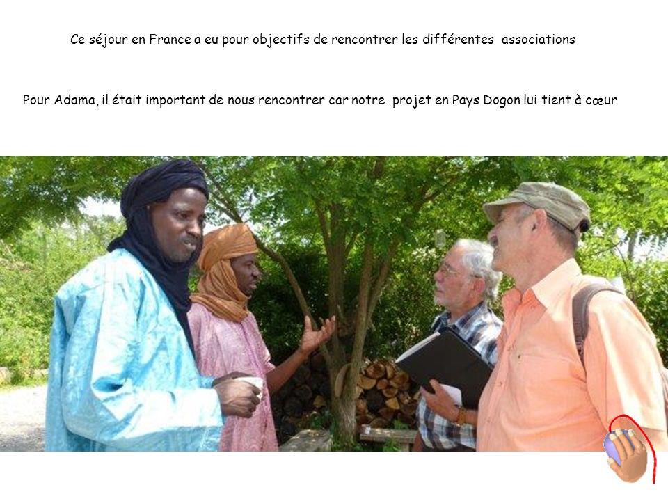 Ce séjour en France a eu pour objectifs de rencontrer les différentes associations Pour Adama, il était important de nous rencontrer car notre projet
