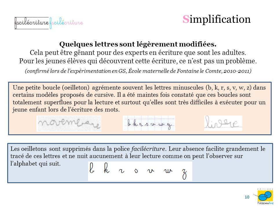 Les lettres rondes commencent sur la ligne médiane : Exercice spécifique de préparation à lécriture des lettres rondes : Simplification 9