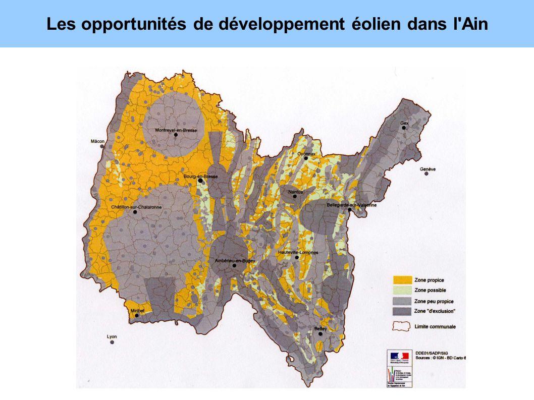 Les opportunités de développement éolien dans l'Ain