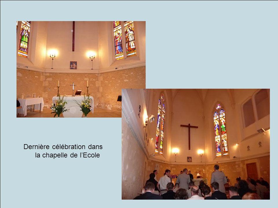 Dernière célébration dans la chapelle de lEcole
