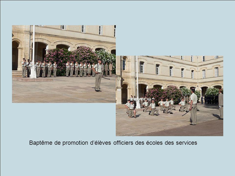 Baptême de promotion délèves officiers des écoles des services