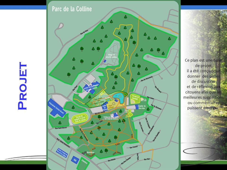 Projet Saucier Ce plan est une base de projet, il a été conçu pour donner des pistes de discussion et de réflexion aux citoyens afin que les meilleures suggestions ou commentaires puissent émerger.