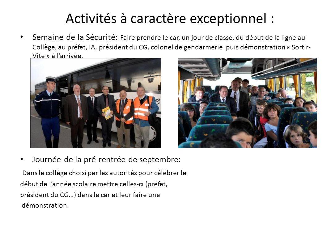 Interventions diverses Au Forum « Métiers Passion » Pour le compte du CG nous avons présenté un stand sur la sécurité aux élèves.