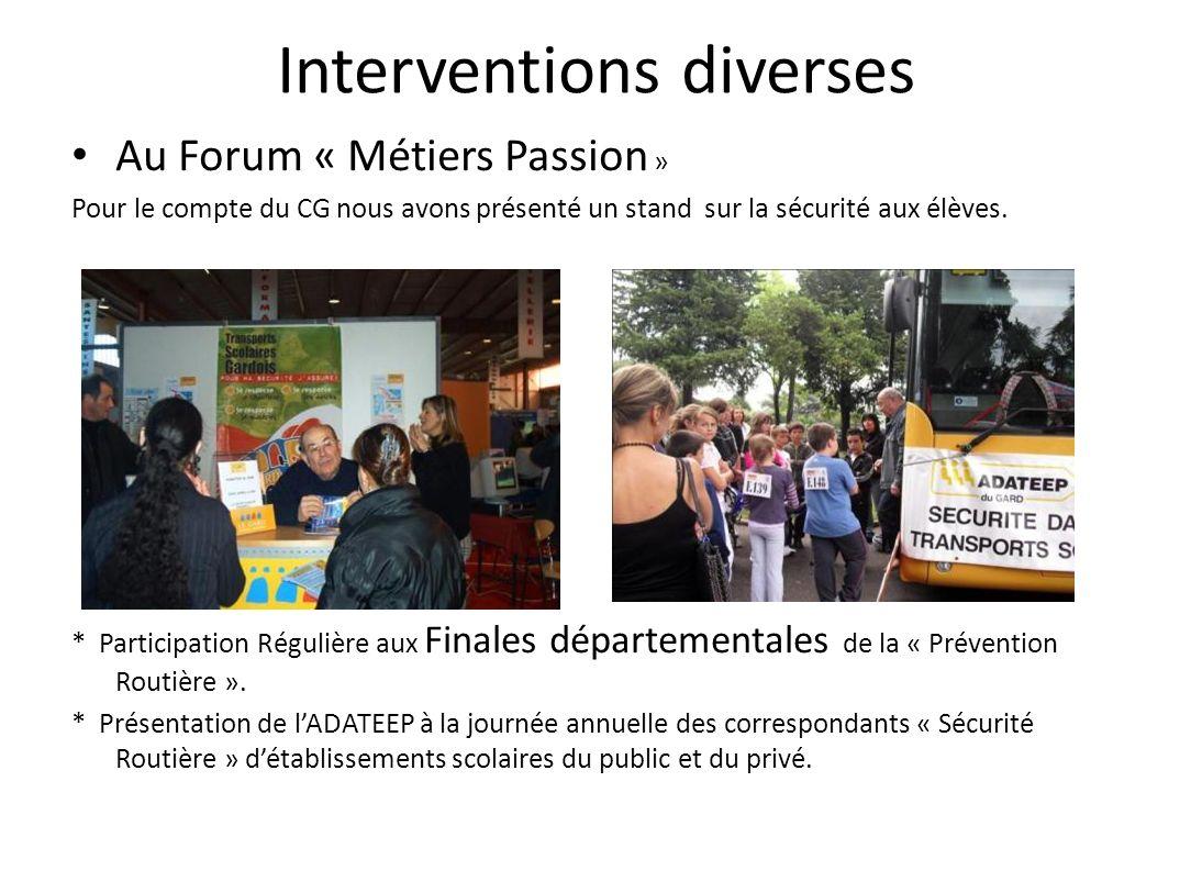FORMATION INTERNE Mise à niveau des intervenants et homogénéisation des interventions.