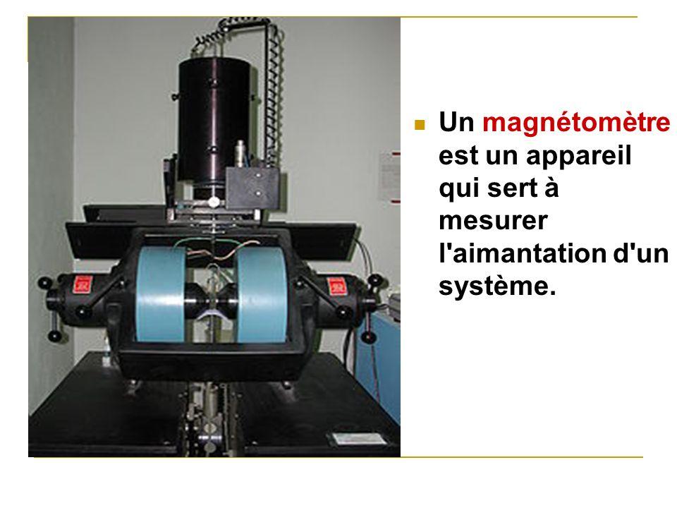 Un magnétomètre est un appareil qui sert à mesurer l'aimantation d'un système.